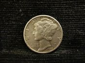 United States, Silver (.900), Mercury Dime 1943, VF, MR352